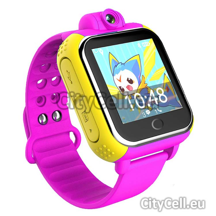 Gps Child Watch Tracker CY18 Pink 3G GSM Camera Front 88
