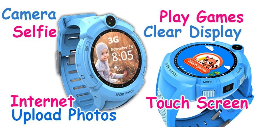 Gps Watch Kids GSM Phone Calls Sms Camera Selfie